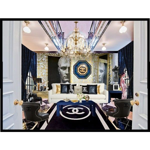 """Apartment Blue Book: """"Chanel Decor"""" By Julissag On Polyvore"""
