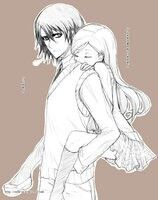 Ulquihime Piggyback Ride Otp Anime Couples Drawings Bleach