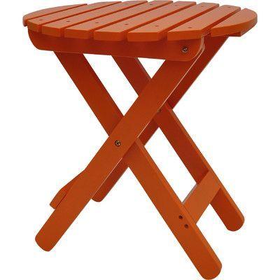 Shine Company Inc. Side Table Finish: Tangerine