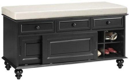 Amazon Com Richland Storage Bench With Sliding Door 23 Hx42 W