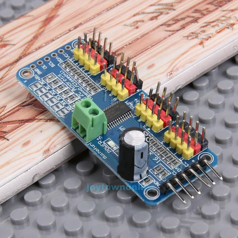 436 Aud Pwm Servo Motor Driver Plate 16 Channel Controller Iic Controlled Potentiometer Control Port For Arduino Robot Ebay Electronics