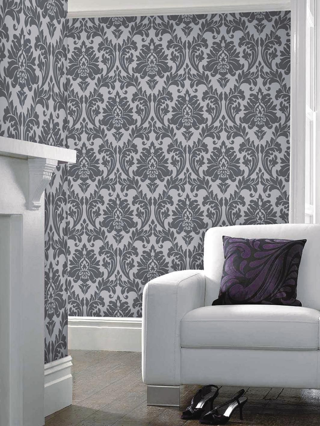 Majestic Wallpaper Grey Paint Ideas Wallpaper And House