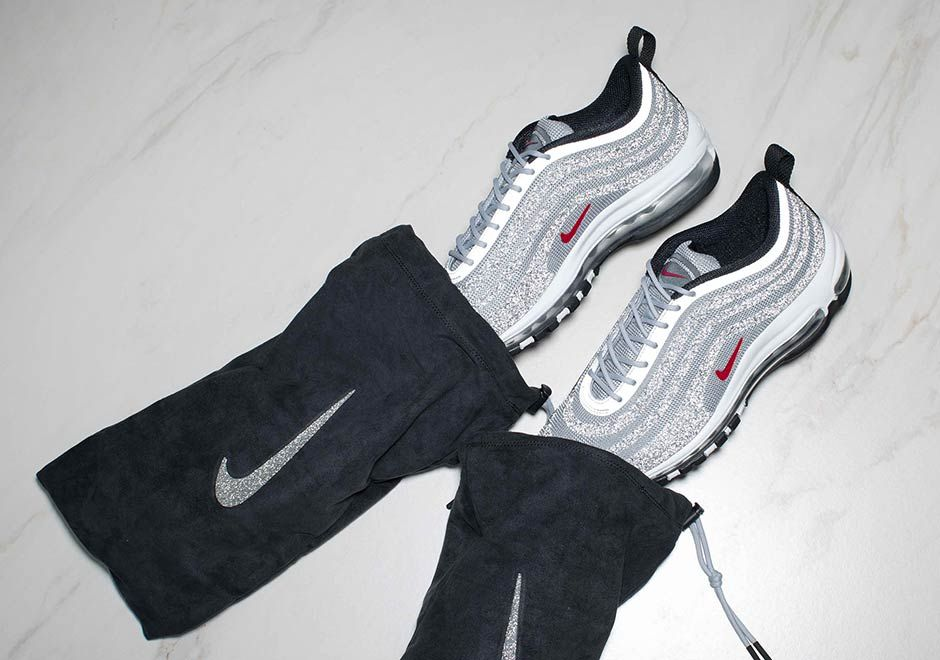 quality design d1d59 c9fb1 Nike Air Max 97 Silver Bullet Swarovski Crystal Release Date ...