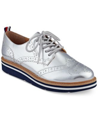 caec05511 TOMMY HILFIGER Tommy Hilfiger Women S Kabriele Lace-Up Oxfords.   tommyhilfiger  shoes   flats