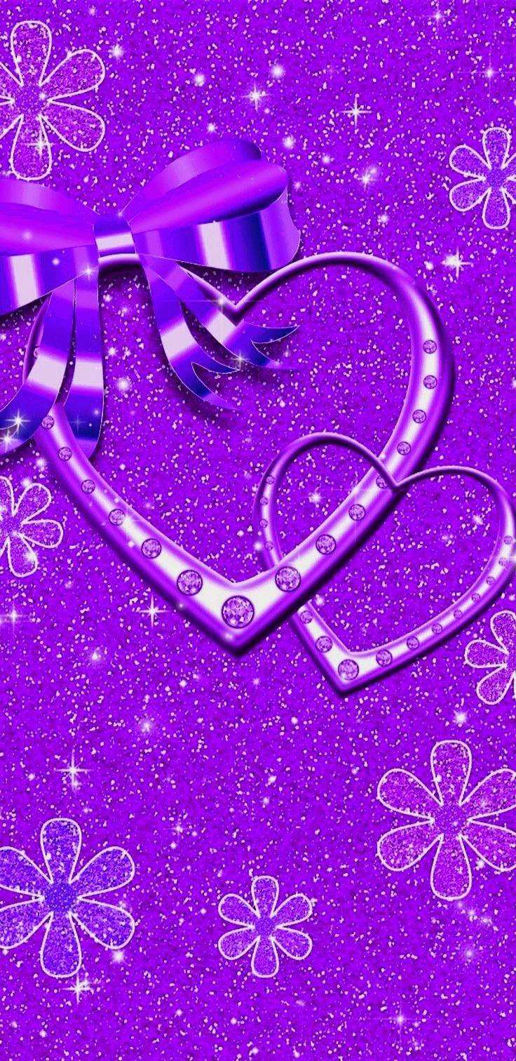 Pin by Suzi Wright on Purple Wallpaper Heart iphone