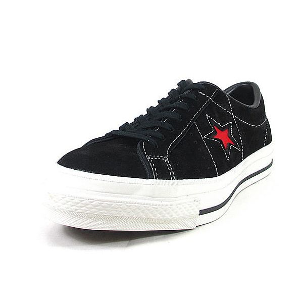 ... model sale SALE men s sneaker made in Converse one star suede CONVERSE  ONE STER J SUEDE black   red sneakers men low-frequency cut suede cloth  Japan 105add4fa