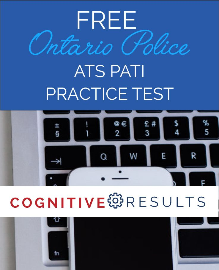 Free Ontario police ATS PATI practice test to see if you're ready to