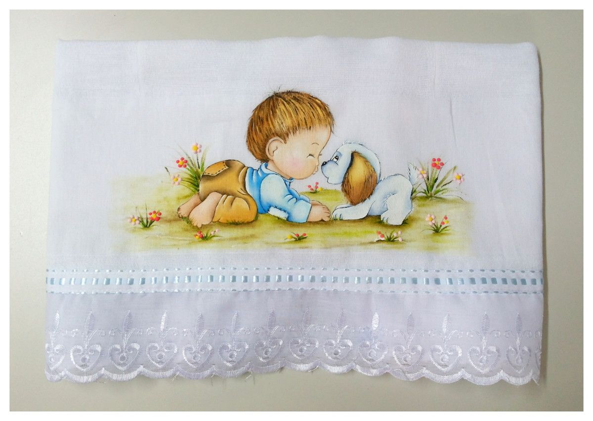 Fralda Pintada para Bebê -PRONTA ENTREGA