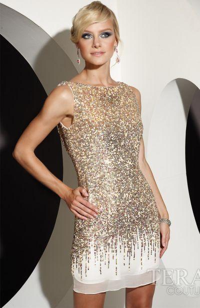 Glitter Cocktail Dress - Ocodea.com