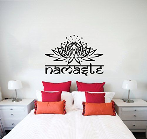 Wall Decals Yoga Namaste Words Lotus Flower Buddha Ganesha Mandala - Yoga studio wall decals