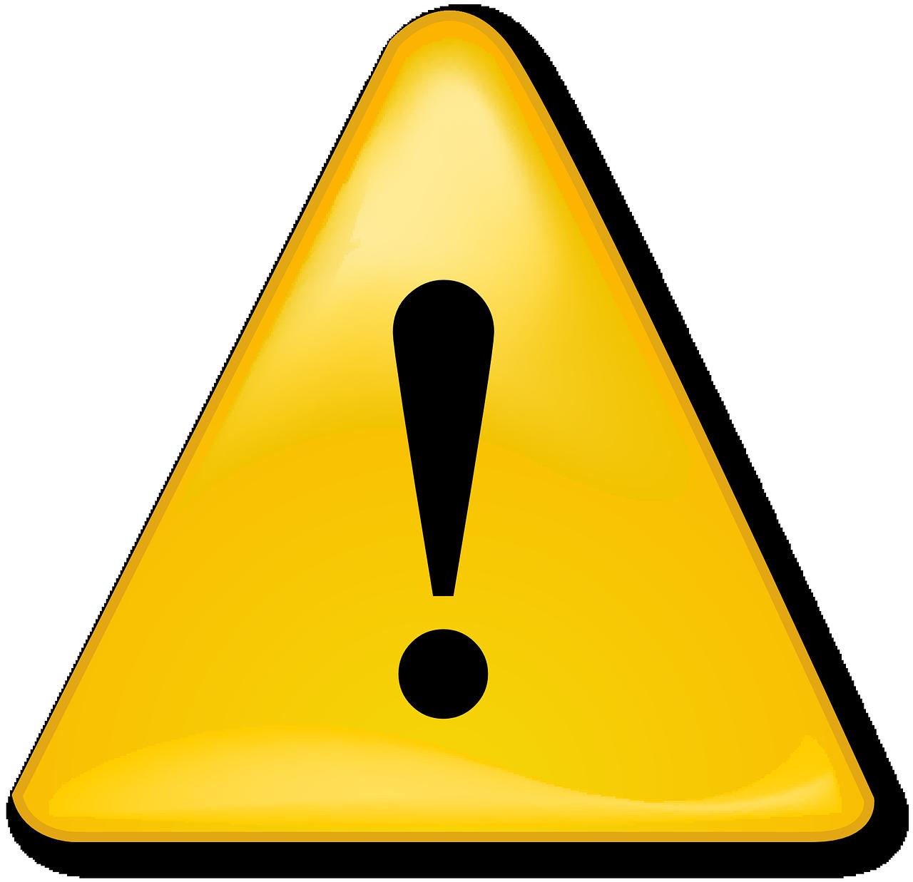 Free Image On Pixabay Warning Caution Alert Icon Point Noir