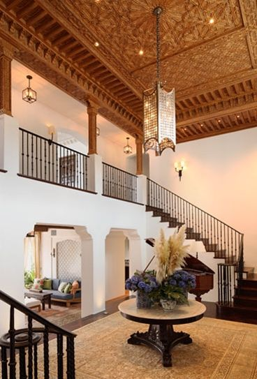 12 Inspirations For Home Improvement With Spanish Home Decorating Ideas: Ornate Wood Ceilings And Arch Details. John Street