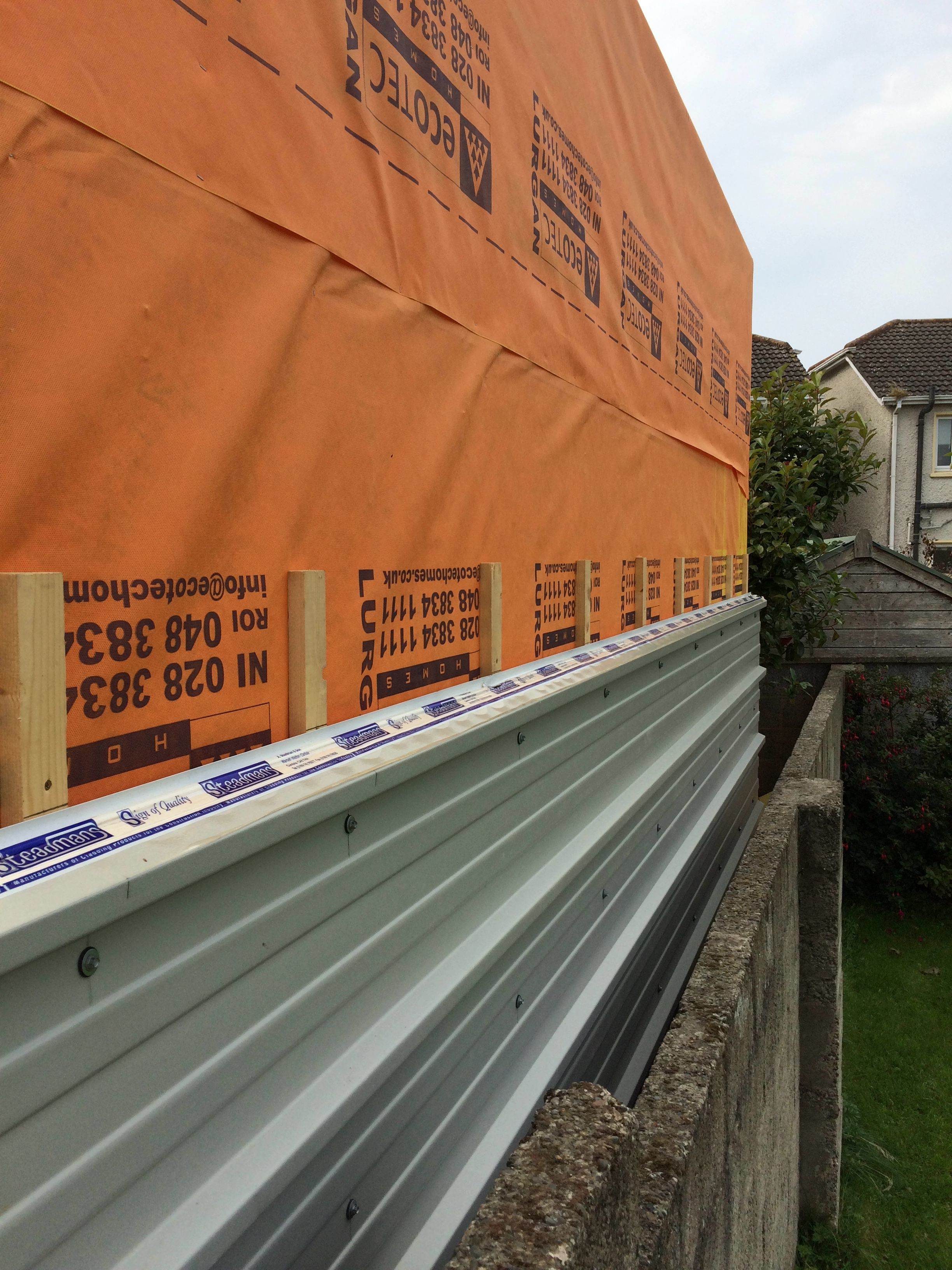Insulated Panel Cladding With Pvc Coating For Rear Wall This Removes The Need For Cladding Maintenance As This Wall I Insulated Panels Boundary Walls Cladding