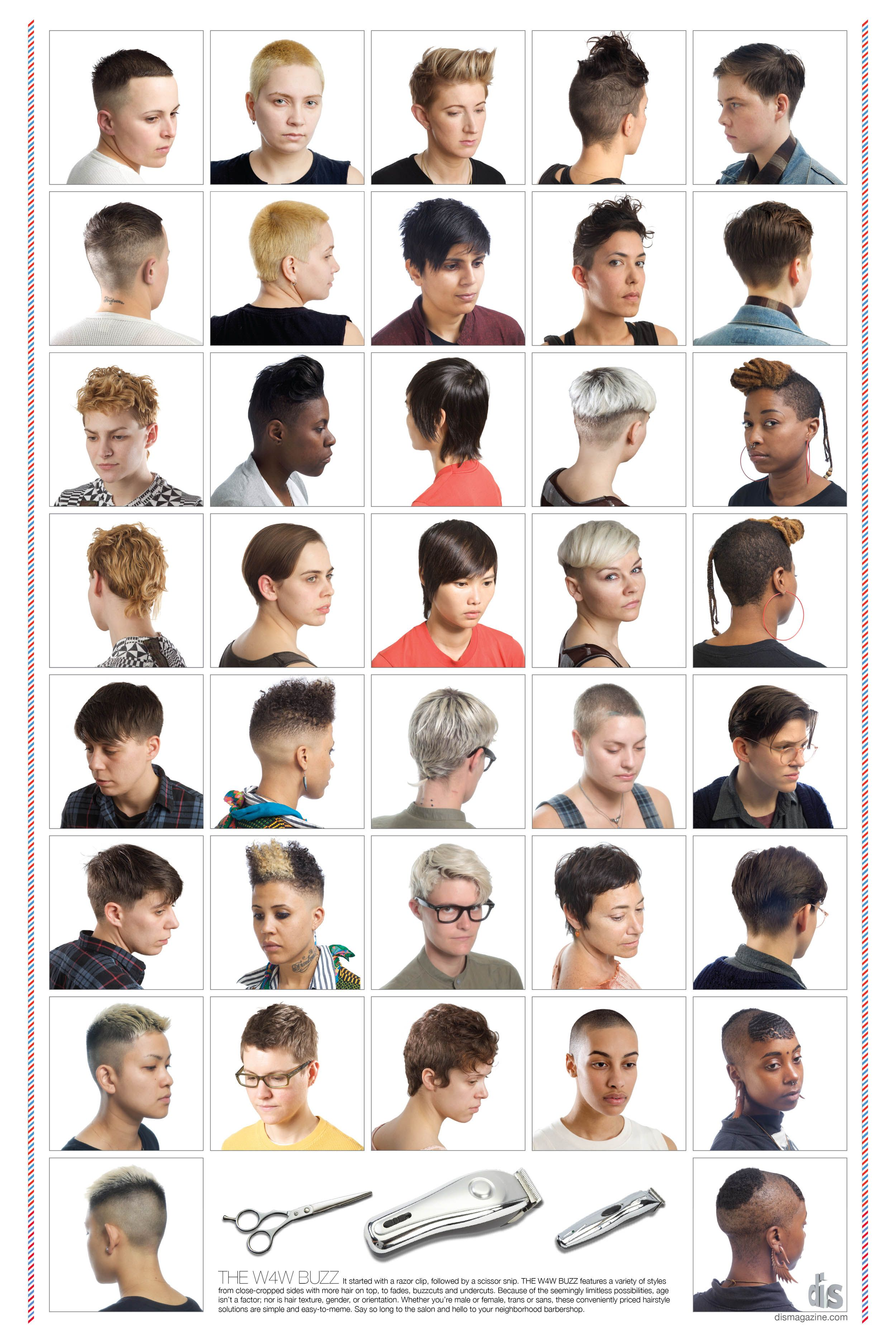 Lesbian visibility barbershop poster by DIS Hair