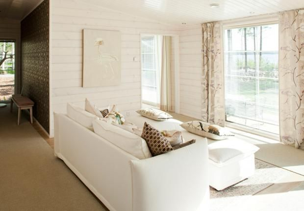 White timber wall