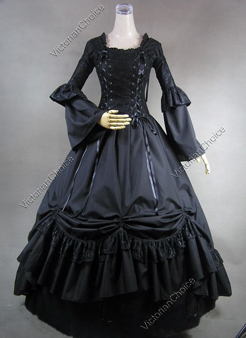 Victorian Renaissance Gothic Corset Lace Period Dress Ball Gown ...