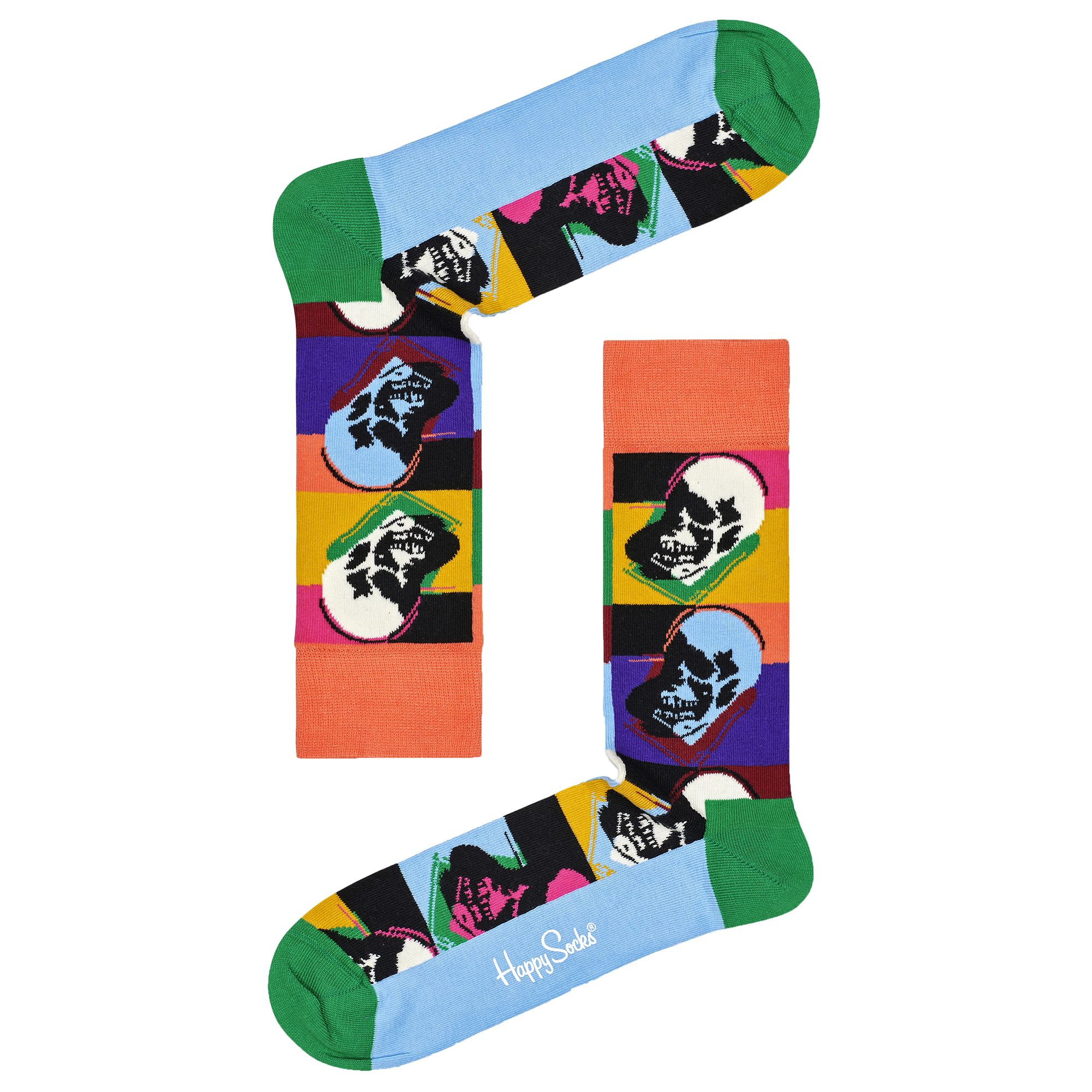 Happy Socks Andy Warhol Skull Socks - Multi - 41-46 #andywarhol
