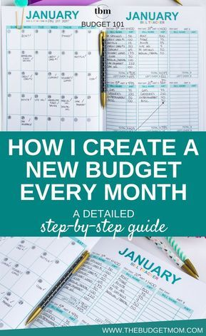 How to Create a New Budget Every Month: A Detailed Step-by-Step ...