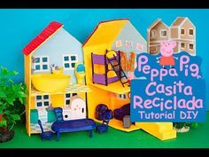 Photo of PEPPA PIG HOUSE RECYCLED TOY WITH CARDBOARD #