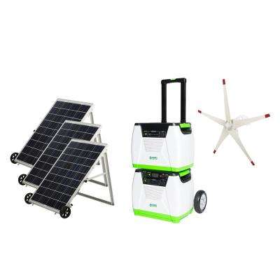 Nature S Generator 1800 Watt Solar Powered Electric Start Portable Generator With Supplemental Power Pod And Wind Turbine Hkngptwe The Home Depot Wind Turbine Generator Home Wind Turbine Portable Generator
