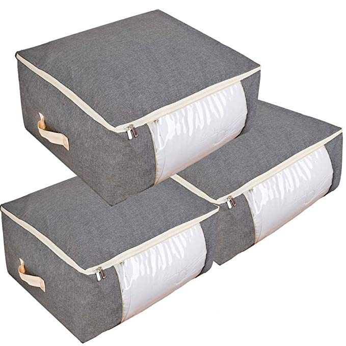 Amazon Com Qozary 3 Pack 105l Storage Bags For Comforters