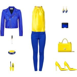 Contest: Blue & Yellow Outfit