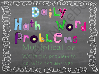Students are given the answer and must work to come up with a multiplication problem that fits. Grab it now!