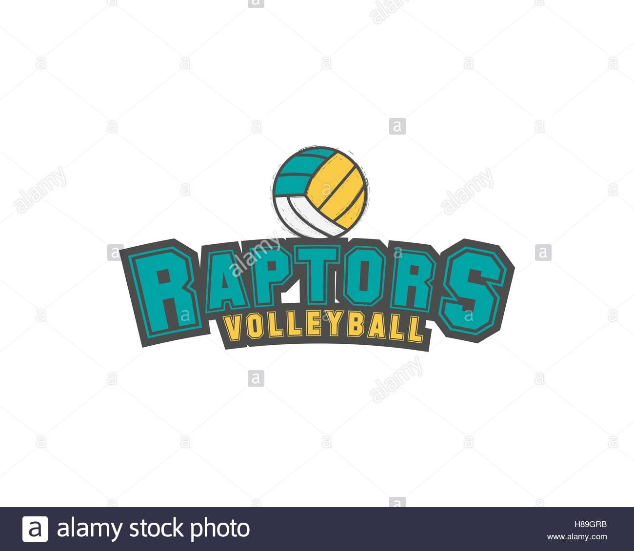 Download This Stock Vector Volleyball Club Emblem College League Logo Raptors Design Template Eleme Volleyball Clubs Volleyball Tournaments Design Template