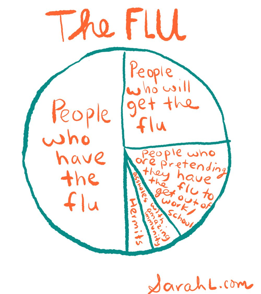 Pie chart showing percentage of people who will use the flu to get hilarious pie chart showing percentage nvjuhfo Image collections