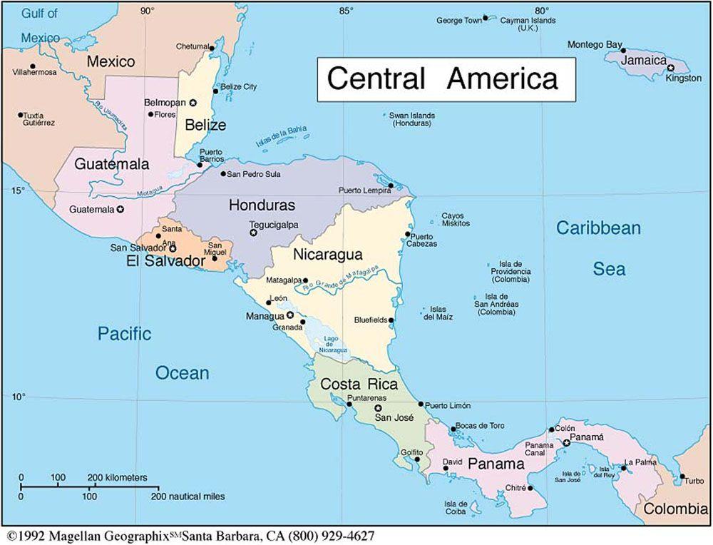 Central America El Salvador Guatemala Honduras Central