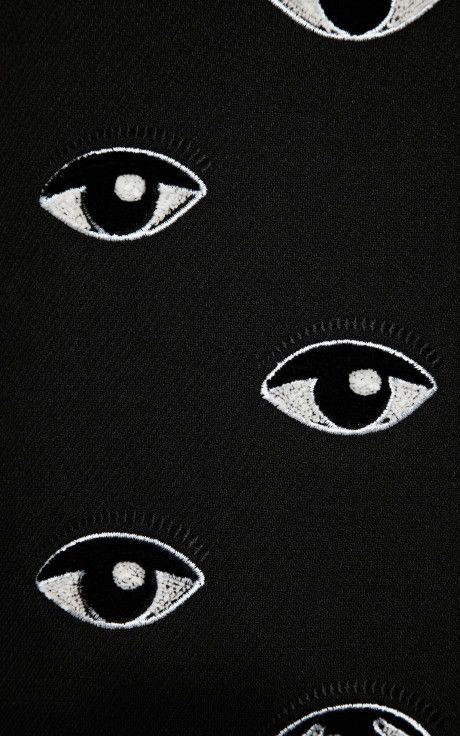 Long Eye Embroidered Wrap Coat By Kenzo Moda Operandi Art Art Design Textures Patterns
