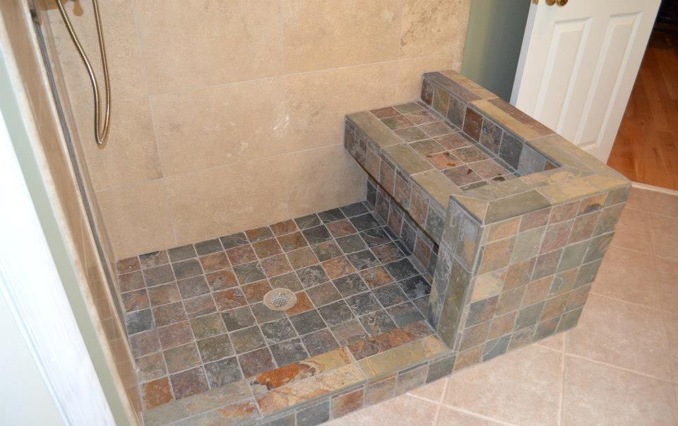 Slate Showers Slate Tile Shower Floor Slate For The Floor And