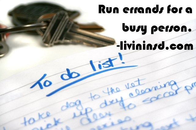 Run errands for a busy person.  Christmas 365: Day 157 - Livin in San Diego #randomactsofkindness #payitforward #giving
