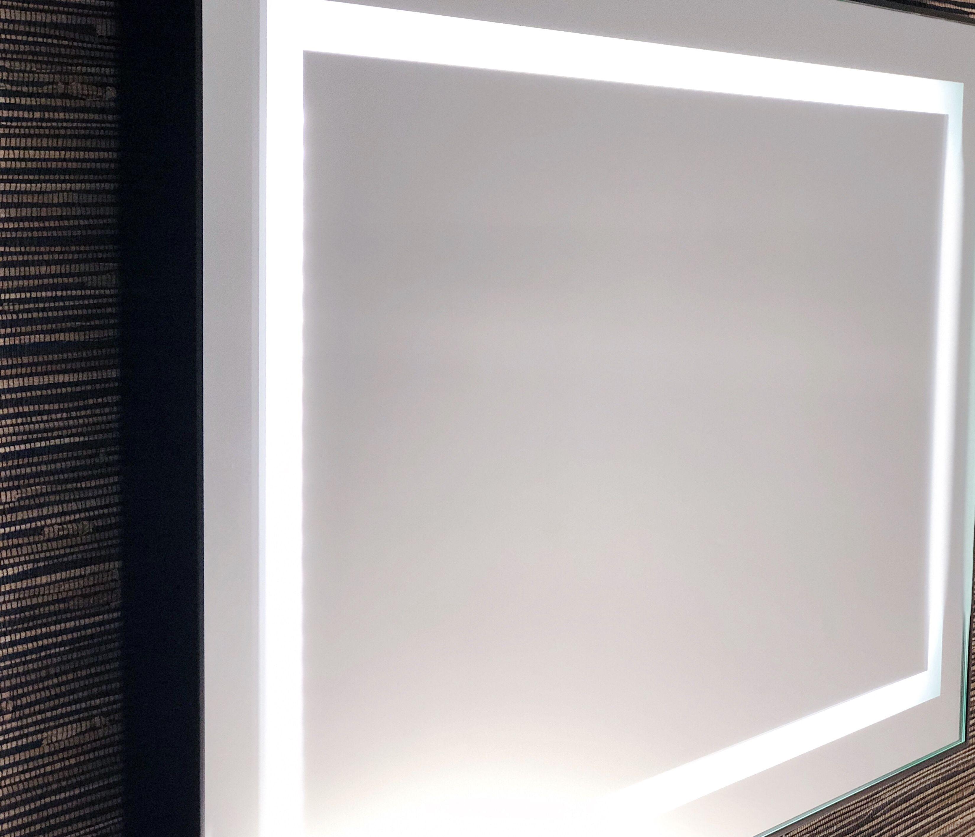 Black frame light up mirror Illuminated mirrors, Mirror