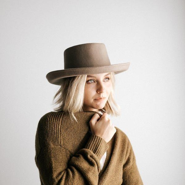 ddb12d82 GIGI PIP Hats for Women- Ginger Mocha - Gambler Style Hat-Felt Hats ...