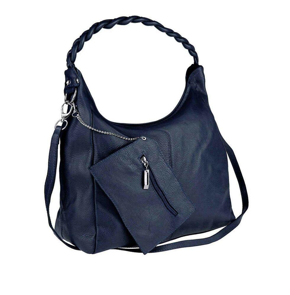 b5a63f43dabe2f [Werbung] ITAL DAMEN LEDER 2in1 SHOPPER Handtasche Schmuck-Tasche CrossOver  Schultertasche: EUR