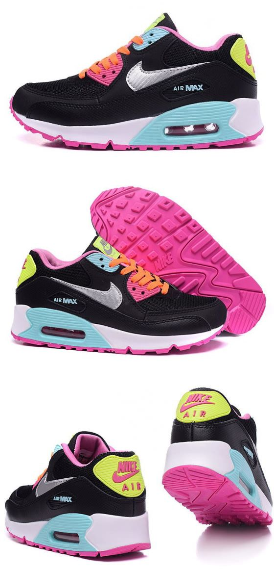 092d5399cb3 Nike Air Max 90 Colorful Women shoes ID#6590 Price$40 WhatsApp +86 ...