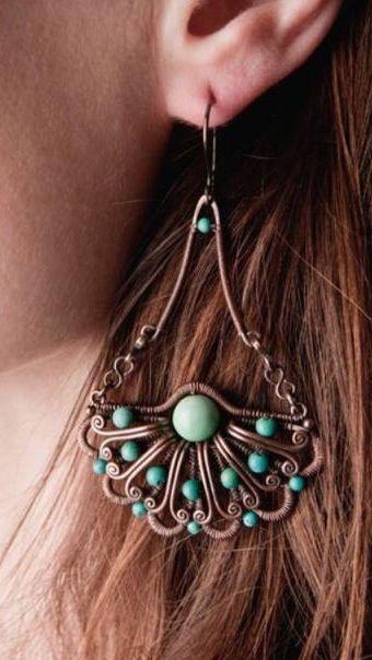 Pin von linda ashe auf Design | Pinterest | Ohrringe machen, Draht ...