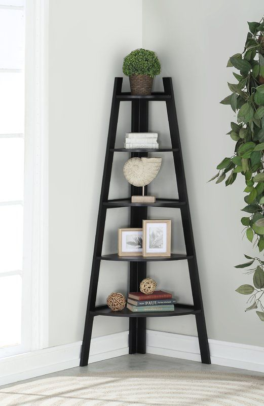 Mari Wood Corner Bookcase