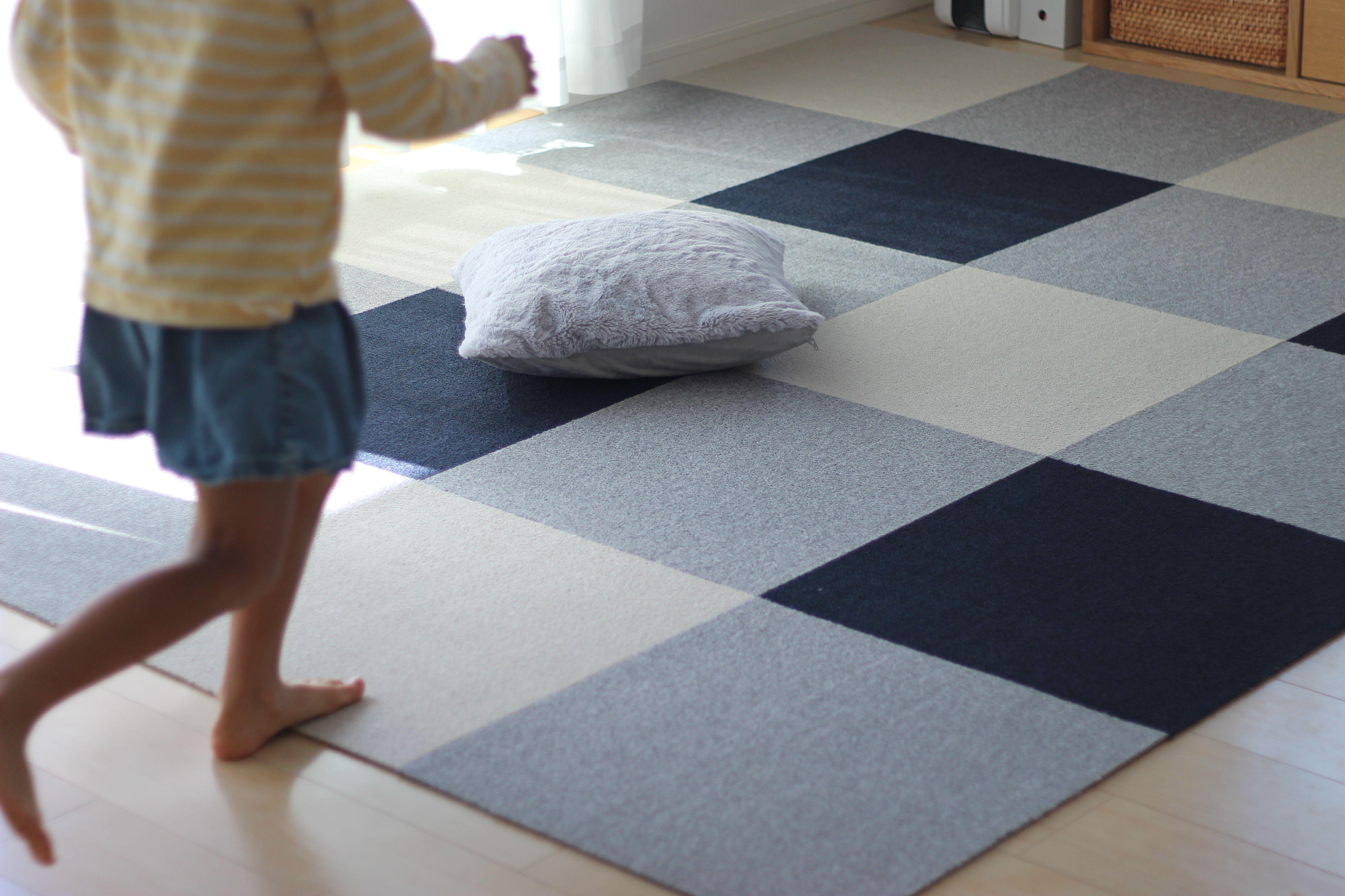タイルカーペット の可能性は無限大 手入れもしやすく見た目もオシャレ Sumai 日刊住まい タイルカーペット カーペット フロアパターン