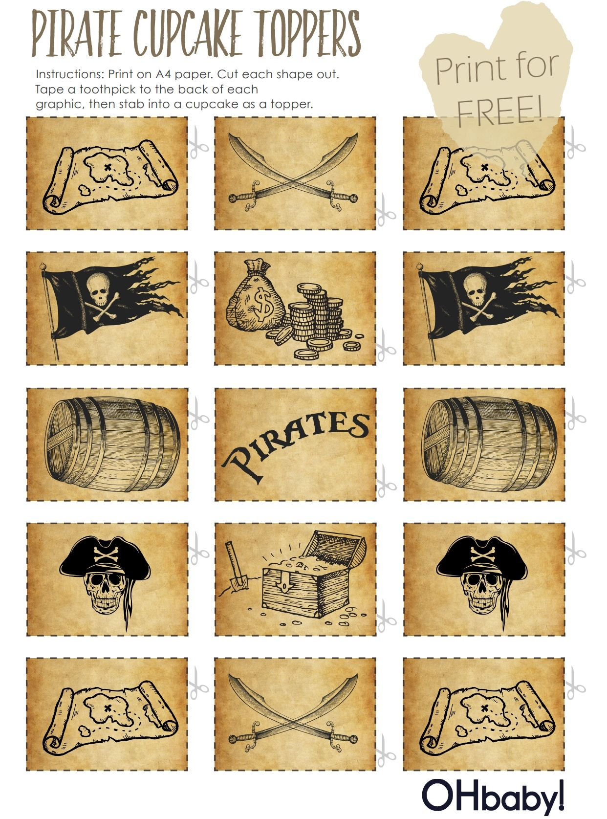 Free Printables Pirate Party Great Food Decor
