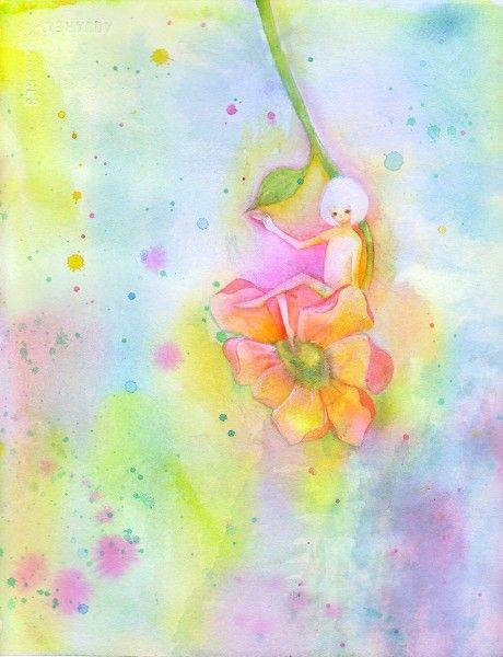 小雨のあさに アネモネの花びらが ゆれたなら きみがいるのかもしれない