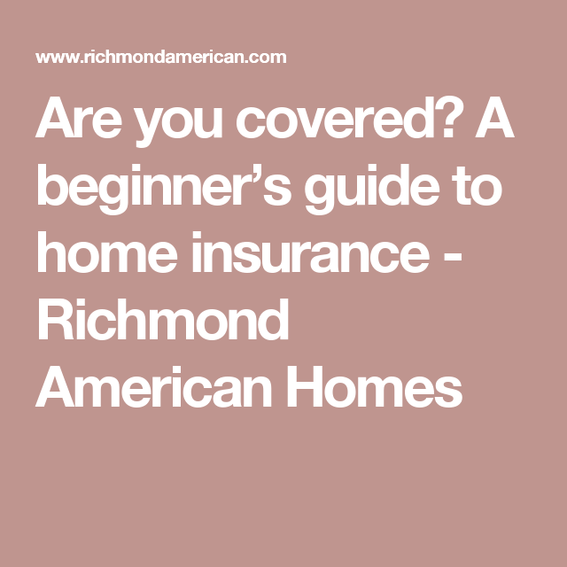 Are you covered? A beginner's guide to home insurance ...