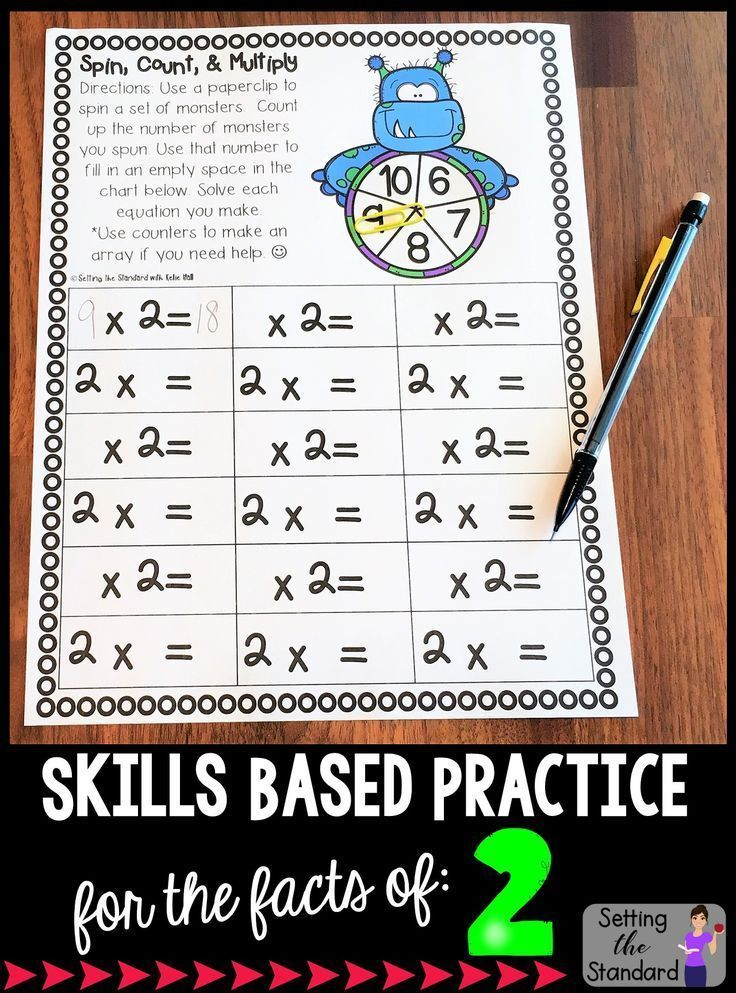 Multiplication Worksheets and Games- Practice For Facts of 2 ...