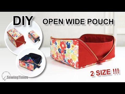 How To Sew An Open Wide Zipper Pouch