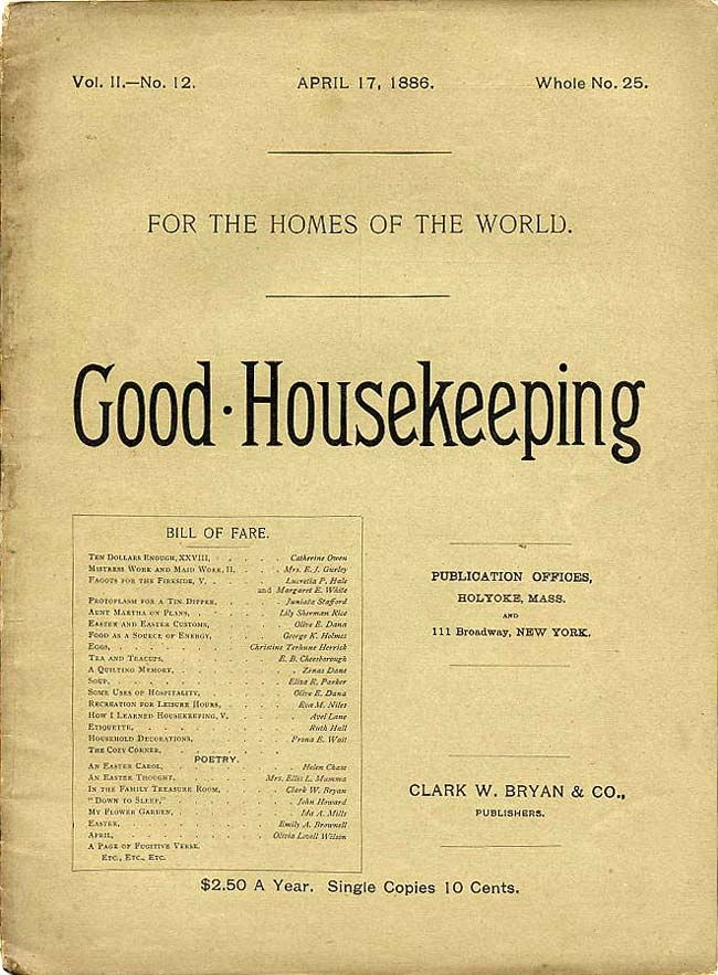 "Image result for 1885 - The FIRST magazine ""Good Housekeeping"""