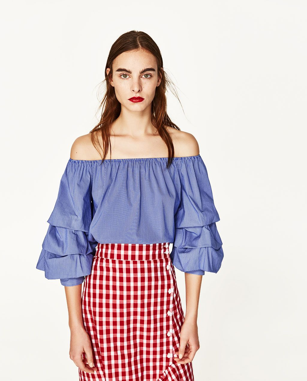 553e9ce721a OFF-THE-SHOULDER TOP-View All-TOPS-WOMAN | ZARA United States ...