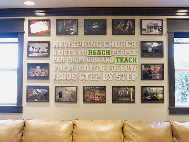 Newspring Vision Statement Wall Church Foyer Church