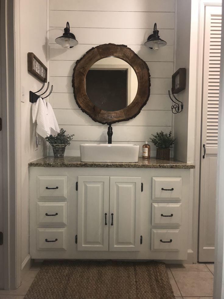 Best Farmhouse Bathroom Remodel Shiplap Walls Alabaster White 400 x 300
