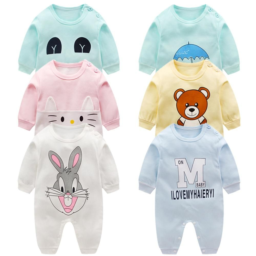 US Autumn Infant Baby Boys Girls Cotton Hooded Romper Jumpsuit Clothes Outfit